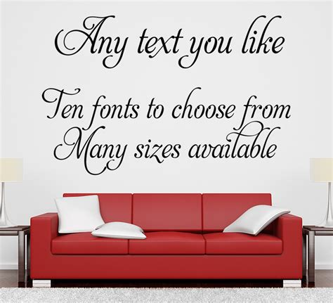 customized wall stickers custom text wall decals c wall decal