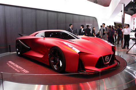 Nissan Concept 2020 Gran Turismo by το Nissan Concept 2020 Vision Gran Turismo σε κόκκινο