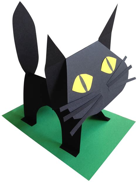 Black Cat Papercraft - black paper cat black paper tutorials and cat