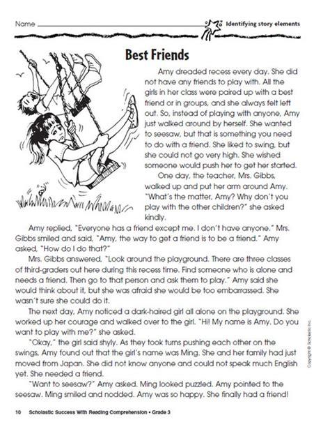 Reading Worksheets Grade 3 by Reading Comprehension Worksheets For 2nd Grade