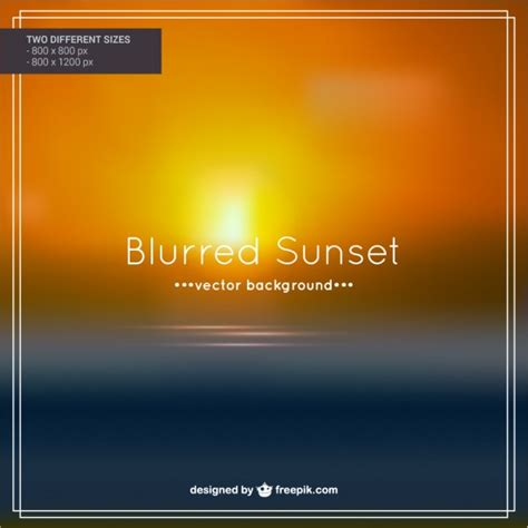 sunset vectors photos and psd files free download blurred sunset background vector free download
