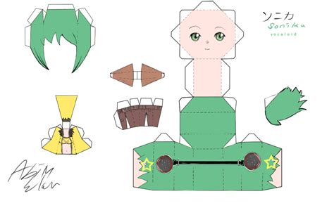 Vocaloid Papercraft - vocaloid sonika papercraft by kuera234 on deviantart
