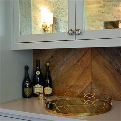antique mirror tile backsplash mirrored herringbone backsplash contemporary kitchen buckingham interiors