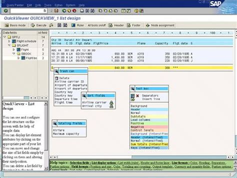 query layout design sap using quickviewer in layout mode sap query reporting