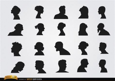 Hairstyle Tools Designs For Silhouette Harry by Hairstyles Profile Silhouettes Vector Set Vector Free