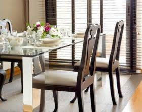glass top tables magnifying beautiful dining room design
