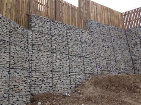 Gabion Retaining Wall Swanvale Falmouth Devoran Garden Gabion Garden Wall
