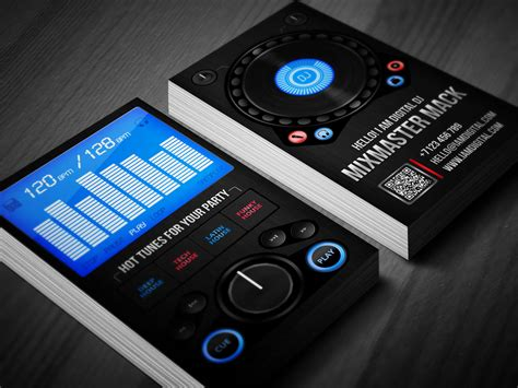 Digital Dj Business Card By Iamvinyljunkie On Deviantart Digital Card Templates