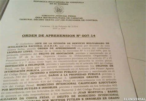 is a bench warrant serious bench warrant against venezuelan opposition leader