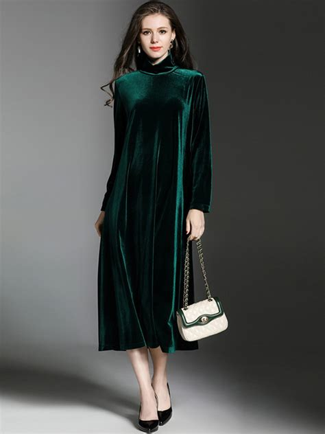 Velvet Sleeve Collar Dress high quality high collar sleeve velvet dress alex nld