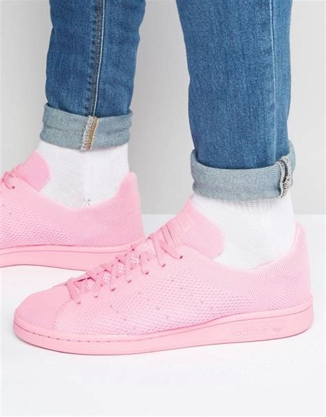Original Adidas Stan Smith Pink adidas originals adidas originals stan smith primeknit trainers in pink s80064