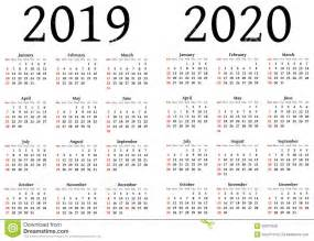 Calendar 2018 And 2019 And 2020 Calendar For 2019 And 2020 Stock Vector Image 50677558