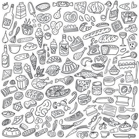 food doodle brushes раскраски антистресс для взрослых арт терапия бесплатно