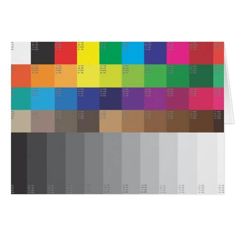 Swatch Gift Card - color swatch and gray scale greeting card zazzle