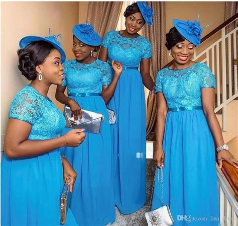 nigerian bridesmaid dress designs hot sale nigerian style bridesmaid dresses blue lace plus