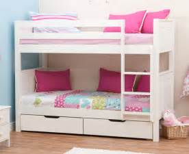 Bunk Bed With Drawers Stompa Classic Bunk Beds With Drawers Rainbow Wood