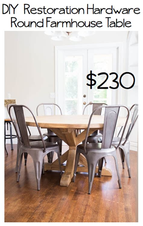 restoration hardware farmhouse table do it yourself divas diy round restoration hardware table