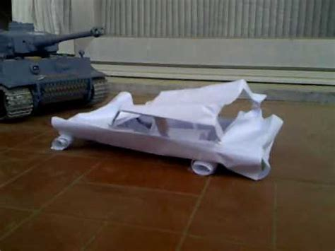 How Do You Make A Paper Car - rc tiger tank crush paper car
