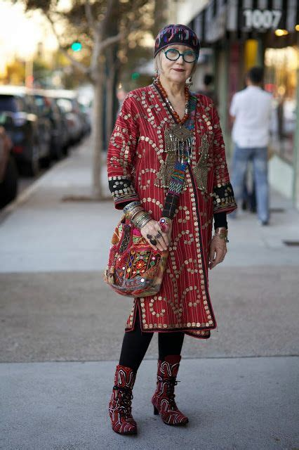 boho style for mature woman suzi click and the power of print mixing older bohemian