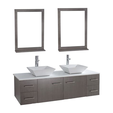 wall mirrors for bathroom vanities siena solid wood 71 quot wall mounted double bathroom vanity