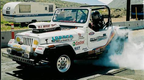 racing jeep wrangler 1992 jeep wrangler yj 1 4 mile drag racing timeslip specs