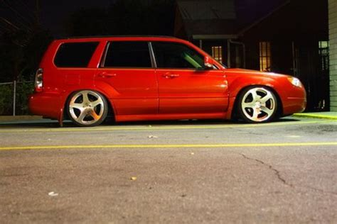 red subaru forester slammed subaru forester lowered slammed fresh lightning red