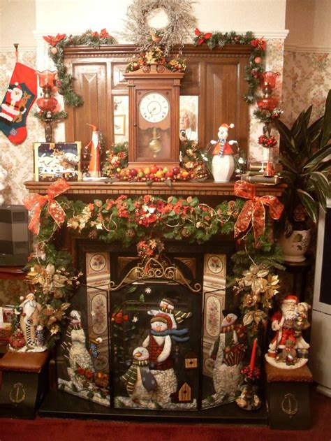christmas fireplace christmas decorations pinterest
