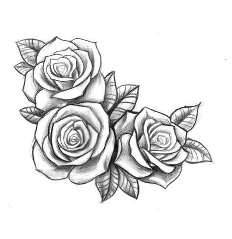 rose tattoo drawings custom roses for bec designs by me