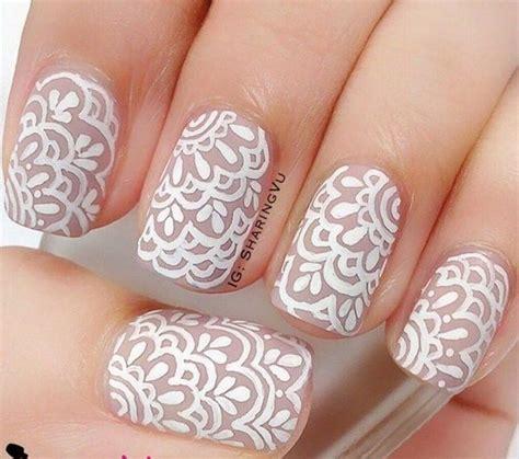 lace pattern nails 20 trendy lace nail art designs 2016 fashion te nails