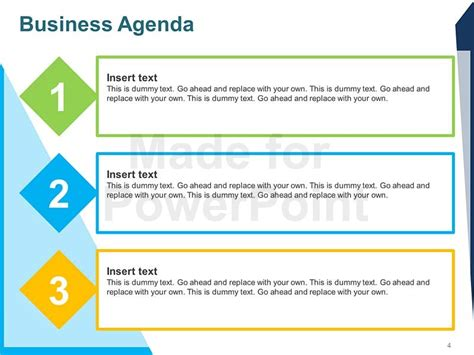 Business Agenda Editable Powerpoint Template Microsoft Powerpoint Agenda Template
