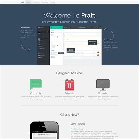 Pratt Free Responsive Bootstrap Website Template Bootstrap Advertisement Template