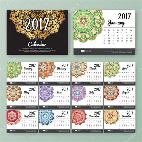 Calendario De 12 Meses Plantilla De Calendario De Escritorio De 12 Meses Para