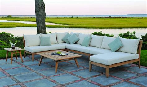 Teak Sectional Patio Furniture Outdoor Sectional Seating Outdoor Wicker Sectionals