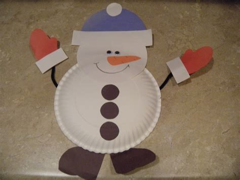 Snowman Paper Plate Craft - the adventures of miss elisabeth it s a winter