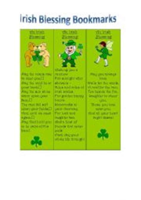printable irish bookmarks english teaching worksheets bookmarks