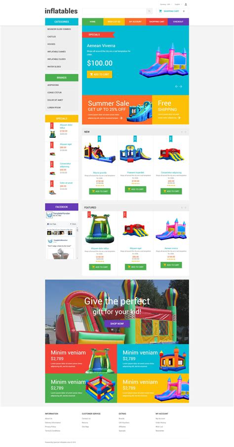 opencart templates toys opencart template