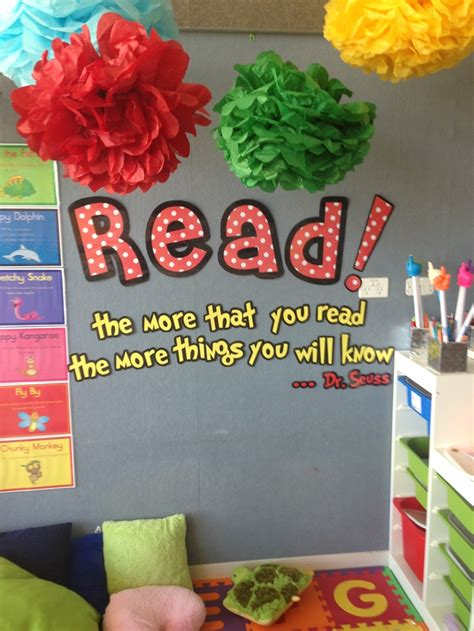 reading themes for schools dr seuss classroom ideas dr seuss themed reading corner
