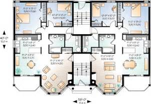 Multi Family Home Plans by World Class Views 21425dr Cad Available Canadian