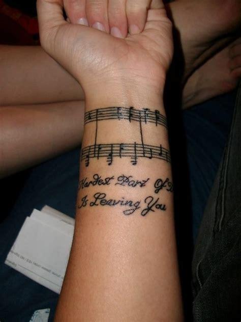 lyrics tattooed on my wrist 41 awesome music notes tattoos on wrists