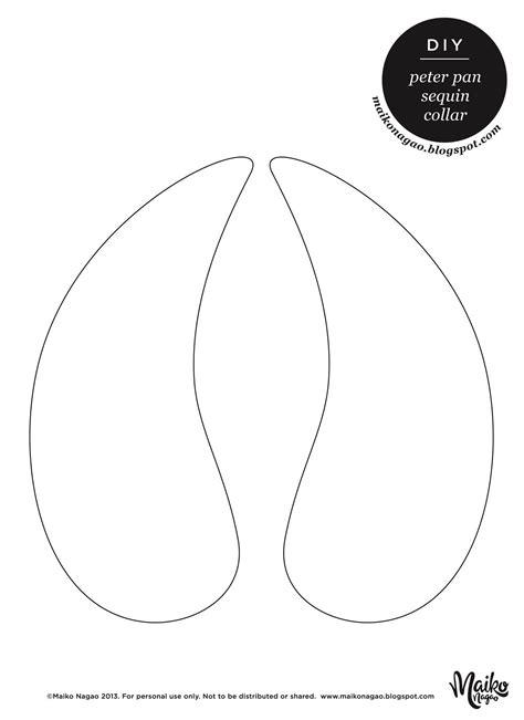 yarness pattern maiko nagao diy no sew peter pan sequin collar tutorial