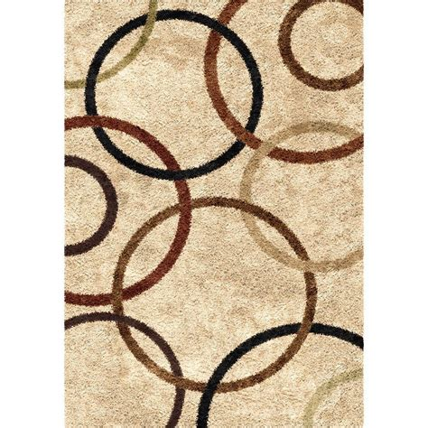 circle pattern area rugs orian rugs circle of bisque 5 ft 3 in x 7 ft 6 in indoor area rug 306682 the home depot