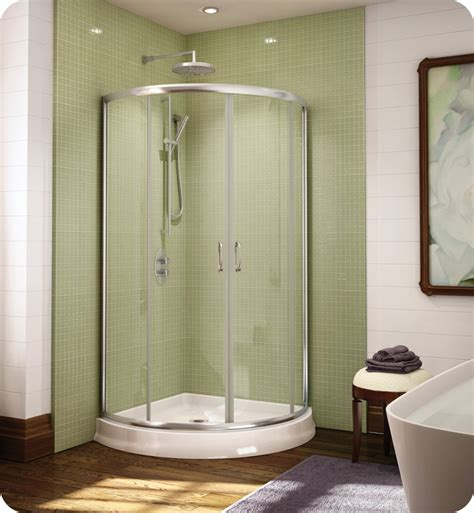 Curved Glass Shower Door Fleurco Fax364 Signature Arc 36 Quot Frameless Curved Glass Sliding Shower Doors