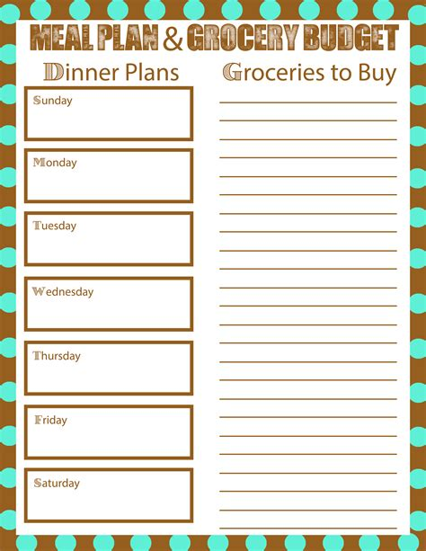meal planning to bring your grocery budget down mom