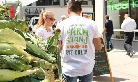 Cos Hits The Streets by Fresh Co S Roaming Pop Up Farm Stand Hits The Streets Of