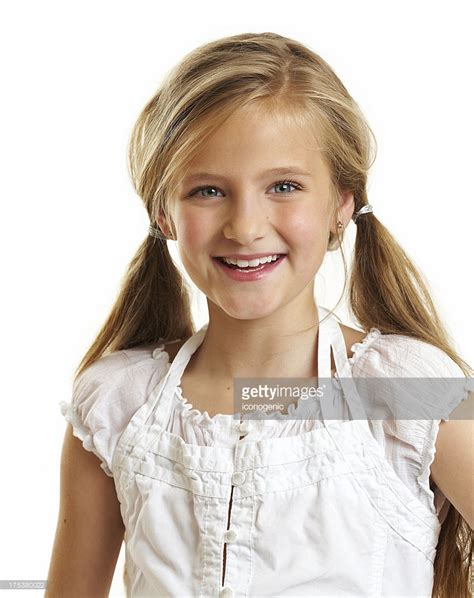 11 year old girl with blonde hair ten year old girl stock photo getty images