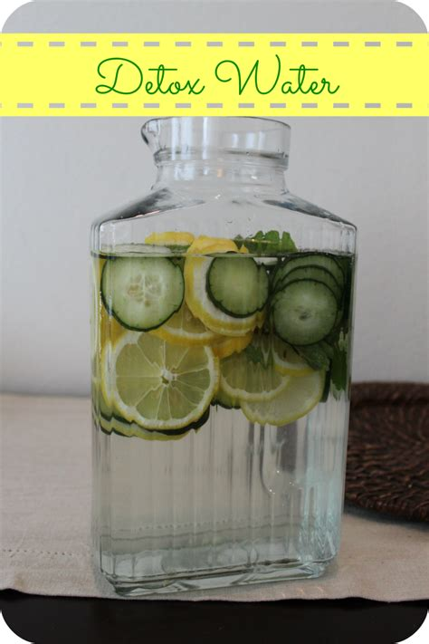 Lemon And Cucumber Detox Water by Detox Water With Lemon Cucumber And Mint The Denver