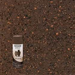How To Paint A Textured Ceiling - rust oleum american accents 12 oz stone mineral brown textured finish spray paint 238324 the