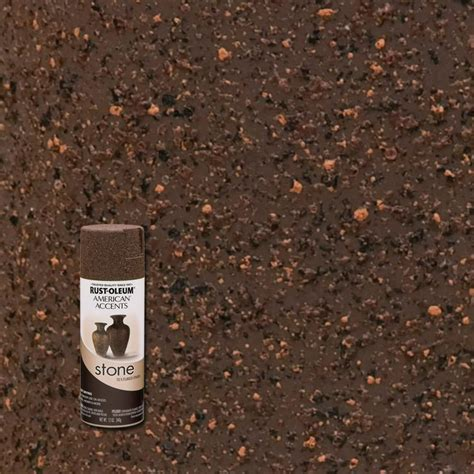 textured spray paint rust oleum american accents 12 oz mineral brown