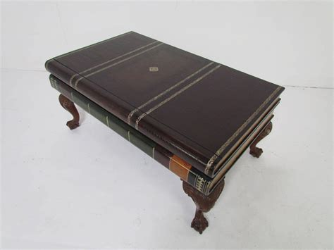 Books On Coffee Table Maitland Smith Stacked Leather Book Form Coffee Table At 1stdibs