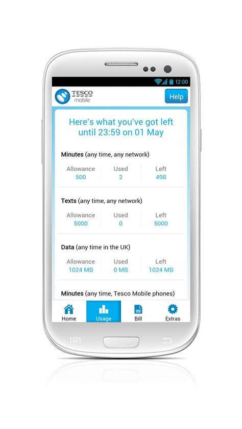 tesco mobile data tesco mobile launches account management uk android app